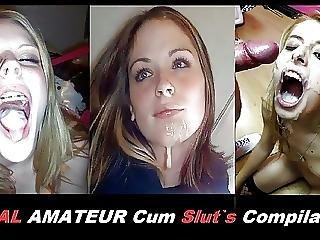 amatoriale, compilation, sperma, ingoiate di sperma, sburrata in faccia, casa, fatto in casa, troia, ingoia
