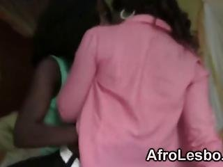 Amateur African Lesbians Decided To Have Some Fun With Each Other In A Bedroom They Enjoy Stripping Before Having Some Real Action