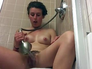 Ex Masturbates In Shower