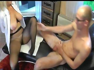 Naughty Mature Milf In Glasses Having Fun With Delivery Boy