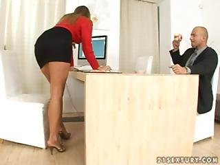 Boss, Feet, Foot, Footjob, Fucking, Office, Secretary, Sexy