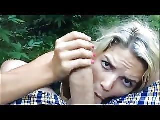 Nanny Sucking Dick In Garden Pov Homemade Sextape