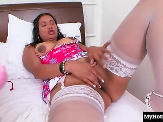 These Two Latina Sluts, One Mature Diva And One Little Princess Both With