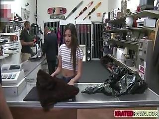 Sweet Babe Nina Kayy Worships Pawnmans Cock For Big Money