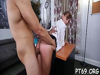 Girl Enjoys An Extreme Action