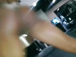 Sexy Girl Masturbates And Gets Naked In Public Gym