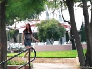 Flashing, πάρκο, δημόσια, κοκκινομάλλα, Εφηβες