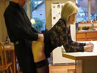Shameless Mature Milf In Stockings Loves Anal Sex In Kitchen