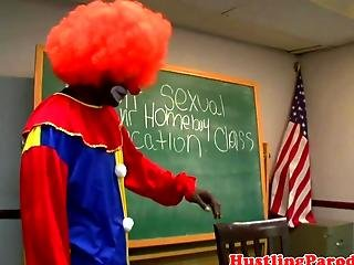 Latina Blows Clown