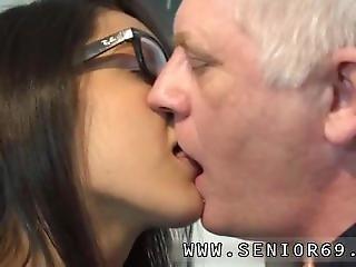 Old Guy Hot Girl Carolina Is Horny And Starts Masturbating.
