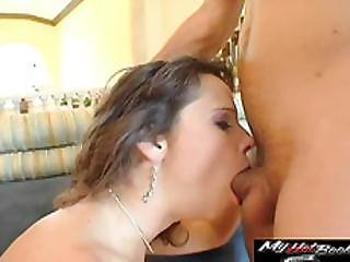 Matured Brunette Syren De Mer Works On A Massive Cock In Garters And Fishnets