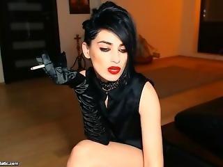 Elegant Mistress Smoking