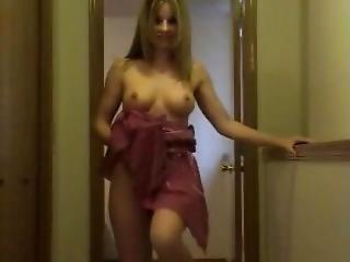Bonasse, Gros Téton, Blonde, Robe, Masturbation, Star Du Porno, Solo