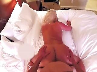 Lucky Guy Enjoying A Thick Blonde Pawg In Hotel Room