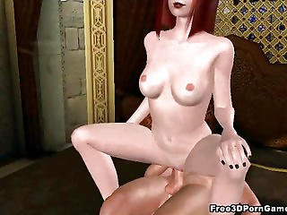 Yummy 3d Cartoon Redhead Honey Riding A Hard Cock