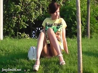 Ass, Brunette, Panties, Public, Skirt, Upskirt, Voyeur