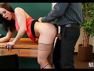 Big Tit Brunette Boss Milf Sucks And Fucks Young Cock Kendra Lust