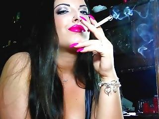 babe, stort bryst, brunette, pink, smuk, sexet, ryger, drilleri, webcam