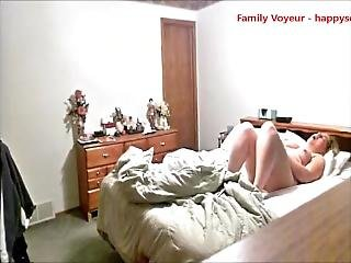 My Mom Masturbating On Bed And Having Orgasm Caught By Hidden Cam