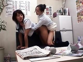 Shop Lifting Girl Caught By Lesbian Manager