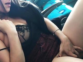 Almost Caught Fucking In Public Bus And Risky Cum On Tits