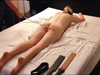Amateur Blonde Teen From Bdsmarena.net Spanking Session, Belt Cane Paddle