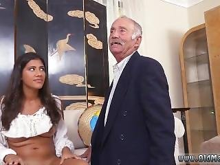 Very Old Granny Pussy And Lovely Teen Is Playing With An Old Cock First