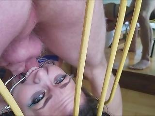 Brutal Facefuck In Blue: Gagging Teen Deepthroat Bondage