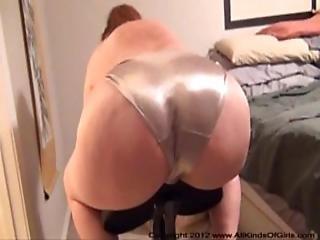 Assfucking Her Big Ass In Silver Panties