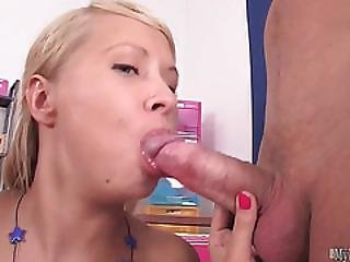 Amelie Pure Loves To Suck Two Cocks At Once. If Its Not A