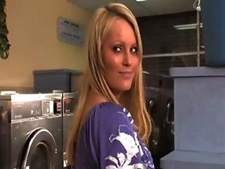 Over 9 000 Porn Movies Only At Nikvid.com Blonde Babe In Laundromat Fuck