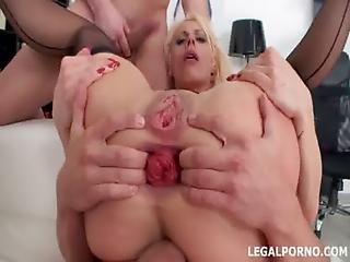 7 On 1 Gang Bang. Pissing Drinking Prolapse Dap. Brittany Love Got Plastered Gio016