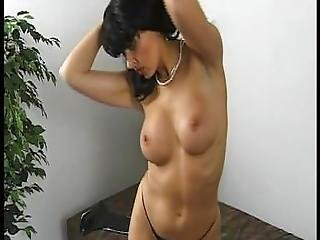 German Milf Shows Off Her Fake Tits