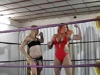 Big Boob, Boob, Brutal, Lesbian, Redhead, Sport, Wrestling