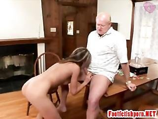 Chick Fondling And Doing Blowjob