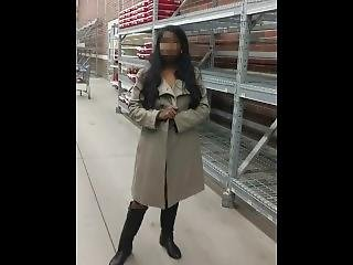 Risky Public Flashing In Walmart