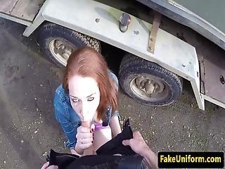 Uk Babe Banged On Hood Of A Cop Car