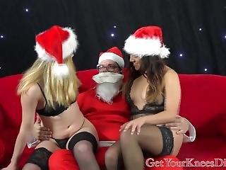 Horny Santa Gets A Ho Ho Blow