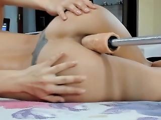 amateur, anal, arsch, luder, fetter arsch, blondine, ficken, fickmaschine, harter porno, solo, spielzeug