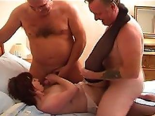 Becka Redheaded British Mother Has A Threesome