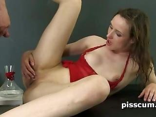Nolita Banged Doggy And Pissed On Her Pussy
