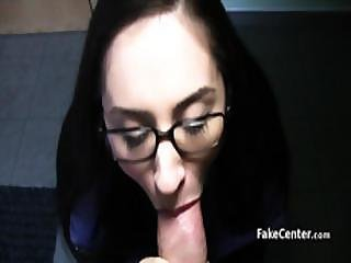 Sexy Glasses Gal Fucking Outdoors