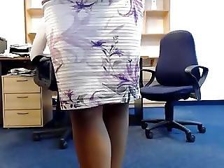 Masturbace, Kancelář, Webkamera