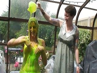 White Dress Slimed