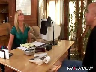 Hot Office Interracial Action