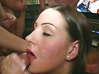 Girl With Big Tits Blowing Long Cocks