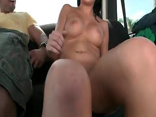 Sexy Slut Shows Trimmed Pussy