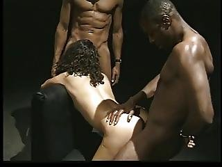Pretty Curly Haired Latina Blows Two Black Dicks To Completion