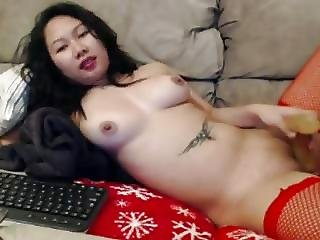 Red Fishnets Asian 738
