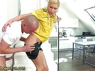 Pissed On Ho Gets Facial
